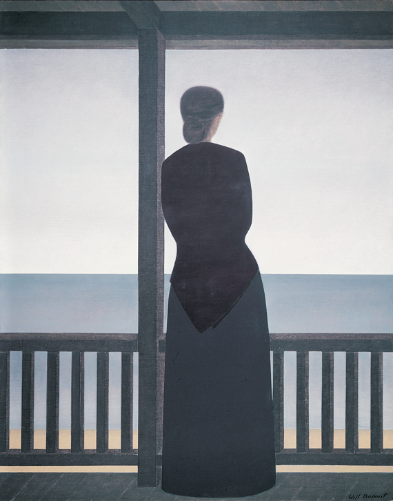 Fig. 6: Will Barnet (b. 1911) Woman and the Sea, 1972 Oil on canvas, 51 x 41 inches Private collection © Will Barnet, Courtesy, Alexandre Gallery, New York