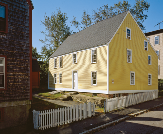 Fig. 3: Gedney House, Salem, Massachusetts, 1665. The relatively plain exterior with its contemporary appearance, belies the untouched and intact interior of this important First-Period architectural survival. Photography by J. David Bohl.