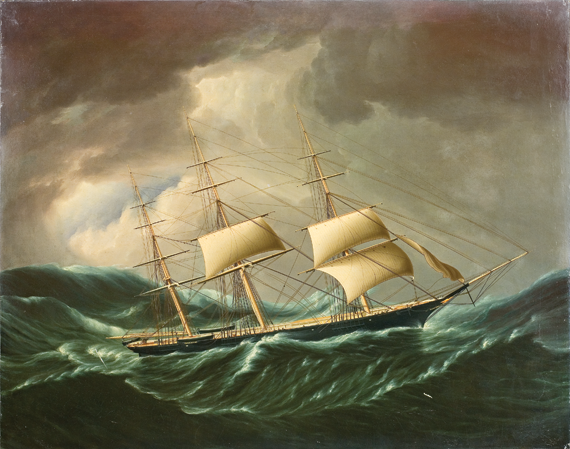 James E. Buttersworth (1817–1894) The Ship Wild Duck Oil on canvas, 36 x 28 inches