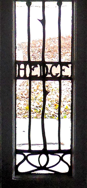 "Fig. 6b: The aesthetic of Nicola D'Ascenzo (1871–1954) is evident in two windows he made for the Rose Valley house Walter Price renovated with his wife during the first few years after their marriage in 1906. D'Ascenzo used floral motifs again in the later ""light screens"" he designed for William Price's 1911 Wheeler house (Figs. 7a–b). Today, the Rose Hedge windows seem to look back to British designs from the end of the nineteenth century. Photography by the author."