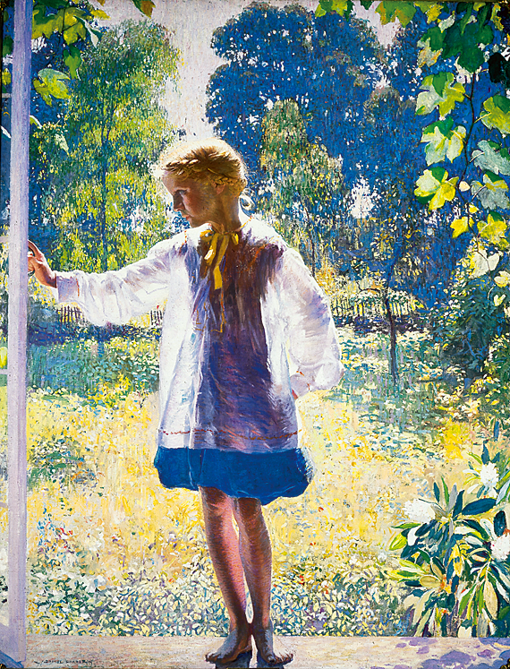 Daniel Garber (1880–1958),  Tanis, 1915. Oil on canvas, 60 x 46-1/4 inches. Philadelphia Museum of Art. Purchased with funds contributed by Marguerite and Gerry Lenfest, 2011.