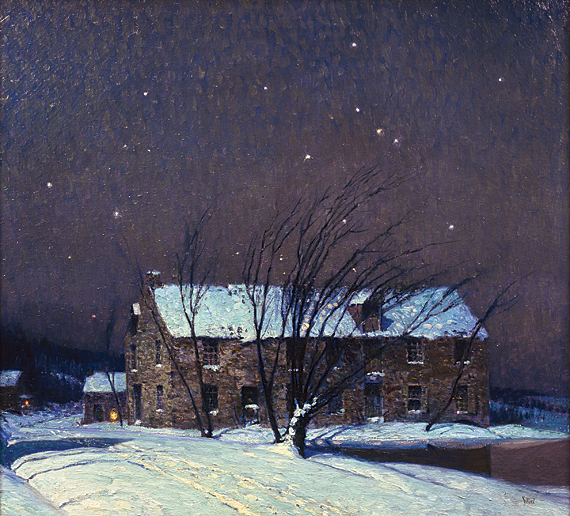 George Sotter (1879-1953),  Silent Night, ca. 1932 Oil on canvas, 36 x 40 inches. Collection of Louis E. and Carol A. Della Penna.