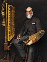 William Merritt Chase. Worthington Whittredge, ca. 1890. Oil on canvas, 64-1/2 x 53-1/4 inches