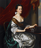 John Singleton Copley. Mrs. Theodore Atkinson Jr. (Frances Deering Wentworth), 1765. Oil on canvas, 51 x 40 inches