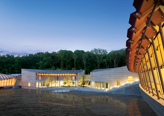 Fig. 1: Crystal Bridges Museum of American Art. Moshe Safdie, architect.