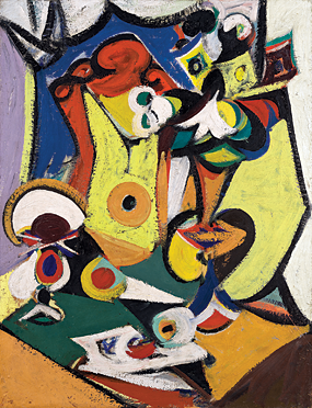 Arshile Gorky. Composition (Still Life), 1936–1937. Oil on canvas, 34 x 26 inches. Photography by Robert LaPrelle