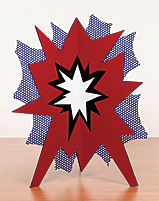 Roy Lichtenstein. Standing Explosion (Red), 1966. Porcelain enamel on steel, 38 x 25 x 30 in. © Christie's Images Ltd. 2010.