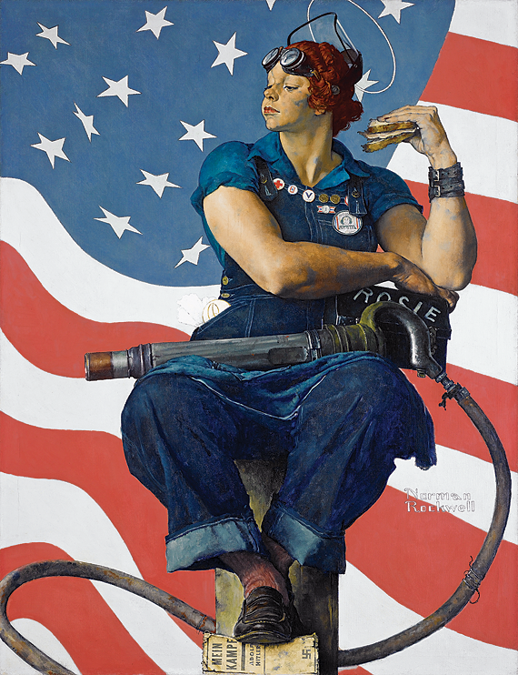 Fig. 3: Norman Rockwell (1894–1978) Rosie the Riveter, 1943 Oil on canvas, 52 x 40 inches