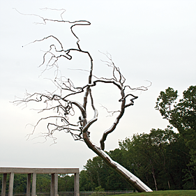 Fig. 9: Roxy Paine (b. 1966) Yield, 2011 Stainless steel, 47-1/2 x 45 ft.
