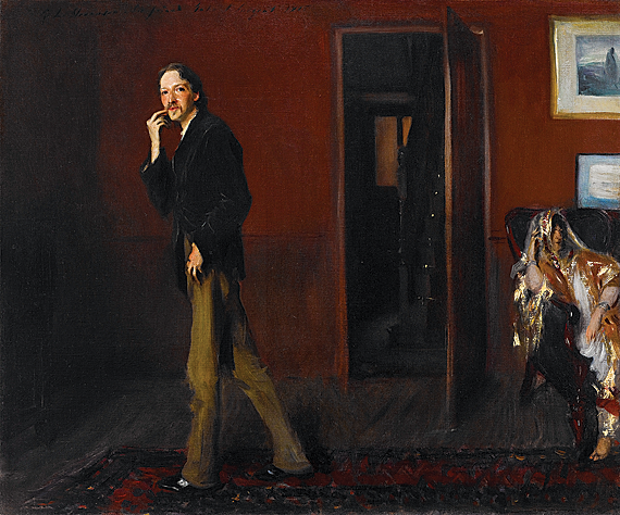 Fig. 8: John Singer Sargent (1856–1925) Robert Louis Stevenson and His Wife, 1885 Oil on canvas, 20-1/4 x 24-1/4 inches