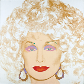 Fig. 7: Andy Warhol (1928–1987) Dolly Parton, 1985 Synthetic polymer and silkscreen ink on canvas,  42 x 42 inches Photography by Robert LaPrelle.