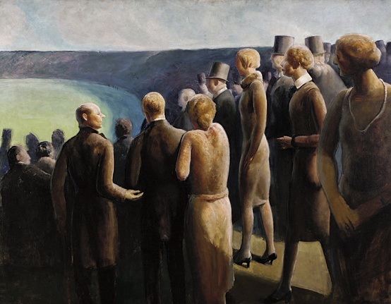 Fig. 10: Guy Pène du Bois (American, 1884–1958), People, 1927 Oil on canvas, 45-1/8 x 57-7/8 in. Pennsylvania Academy of the Fine Arts, Philadelphia, Joseph E. Temple Fund, Courtesy, James Graham & Sons and the Estate of Yvonne Pène du Bois McKenney.