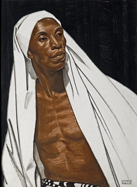 Fig. 7: Winold Reiss (American, 1886–1953) Black Prophet, 1925 Pastel on Whatman board, 30 x 22 in. Private collection. © The Reiss Trust.