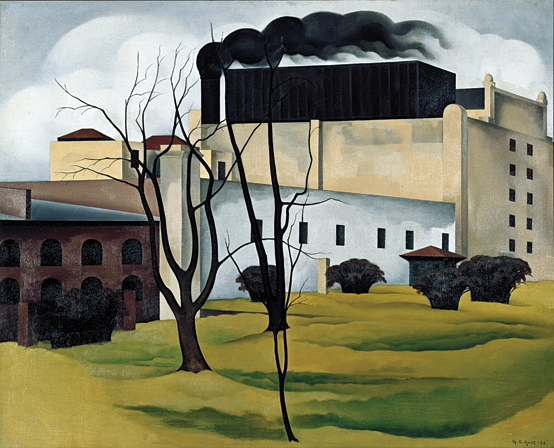 Fig. 11: George Copeland Ault (American, 1891–1948), Brooklyn Ice House, 1926 Oil on canvas, 24 x 30 in. Courtesy, Newark Museum, Purchase 1928. The General Fund (28.1760).