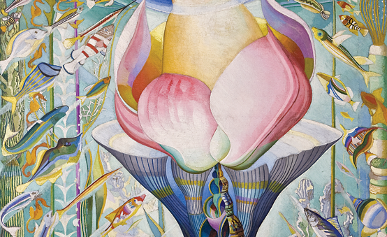 Fig. 4: Joseph Stella (American, 1877–1946), The Birth of Venus, 1925 Oil on canvas, 88-1/8 x 54-7/8 in Salisbury House and Gardens, Des Moines, Iowa.