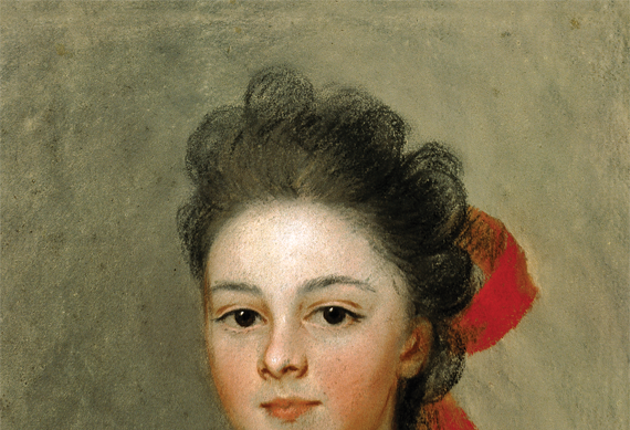 Fig. 1: Henrietta de Beaulieu Dering Johnston (ca. 1674&-1729),  Henriette Charlotte Chastaigner (Mrs. Nathaniel Broughton), 1711.  Pastel on paper, 14-2/5 x 11-3/5 inches.  Gibbes Museum, Charleston, S.C., Gift of Victor A. Morawetz (1938.020.0004).