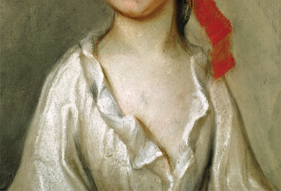Fig. 1: Henrietta de Beaulieu Dering Johnston (ca. 1674-1729),  Henriette Charlotte Chastaigner (Mrs. Nathaniel Broughton), 1711.  Pastel on paper, 14-2/5 x 11-3/5 inches.  Gibbes Museum, Charleston, S.C., Gift of Victor A. Morawetz (1938.020.0004).