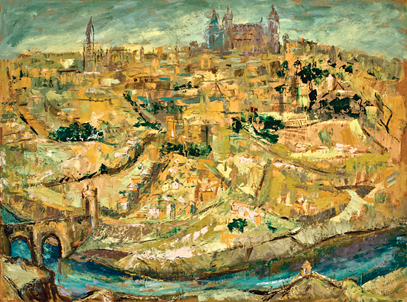 Fig. 8: Corrie McCallum (1914-2009), View of Toledo, ca. 1965.  Oil on masonite, 42-7/8 x 54-3/4 inches.  Gibbes Museum, Charleston, S.C., Gift of Dr. and Mrs. Charles P. Summerall III (1983.026).