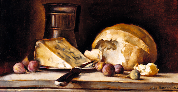 Fig. 11: Jill Hooper (b. 1970), Remains of a Meal, 2000.  Oil on linen, 16 x 23 inches. Gibbes Museum, Charleston, S.C., Museum purchase with funds provided by a gift of the Charleston Fine Art Dealers Association (2000.026).