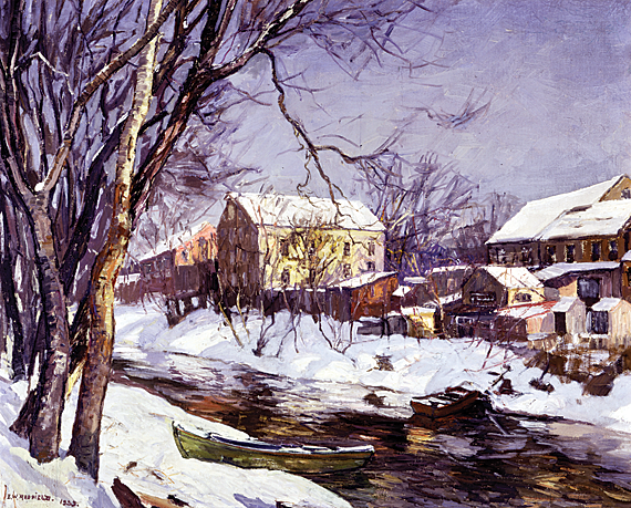 Fig. 5: Edward Redfield (1869–1965) Winter Reflections, 1935 Oil on canvas; 32 x 40-3/8 inches Gift of Carolyn Elkins Foster (2005) Collection of the Brandywine River Museum Gift of Carolyn Elkins Foster (2005).