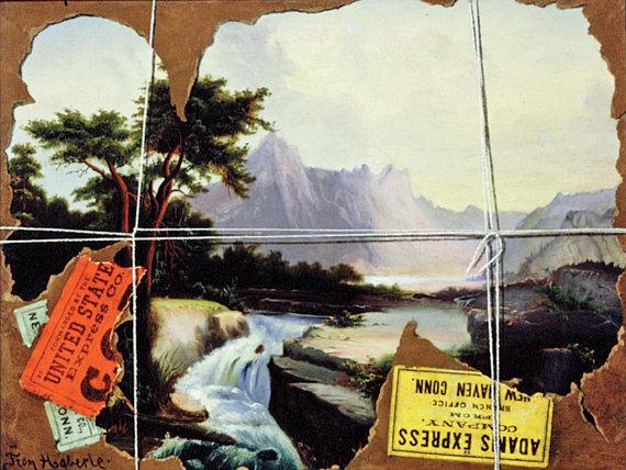 Fig. 8: John Haberle (1856–1933) Torn in Transit, 1890-95 Oil on canvas, 13-1/2 x 17 inches Collection of Brandywine River Museum, Gift of Amanda K. Berls, 1980.