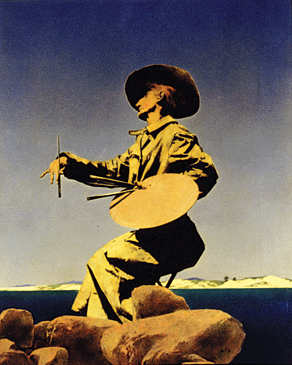 Fig. 9: Maxfield Parrish (1870–1966) The Artist, 1909 Oil on paper, 19-3/4 x 16 inches Cover for Collier's May 1, 1909 Collection of Brandywine River Museum Gift of Mrs. Andrew Wyeth, 1980.