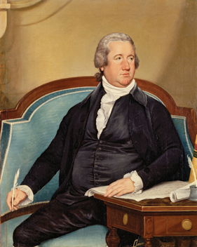 Fig. 10: Joseph Wright (1756–1793), Portrait of Frederick Augustus Conrad Muhlenberg (1750–1801), New York, 1790. Oil on canvas with applied wood strip. 47 x 37 inches (framed). Courtesy, National Portrait Gallery, Smithsonian Institution, Washington, DC.