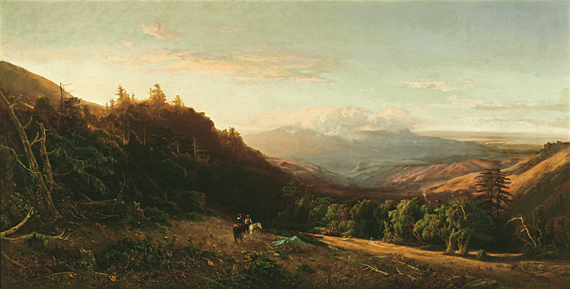 Fig. 5: William Keith (1838–1911), Mount Tamalpais, Golden Morning, 1872. Oil on canvas, 39-5/8 x 72-1/4 inches. Saint Mary's College, Moraga, Calif., gift of Sidney L. Schwartz in honor of Garrett W. McEnerney.