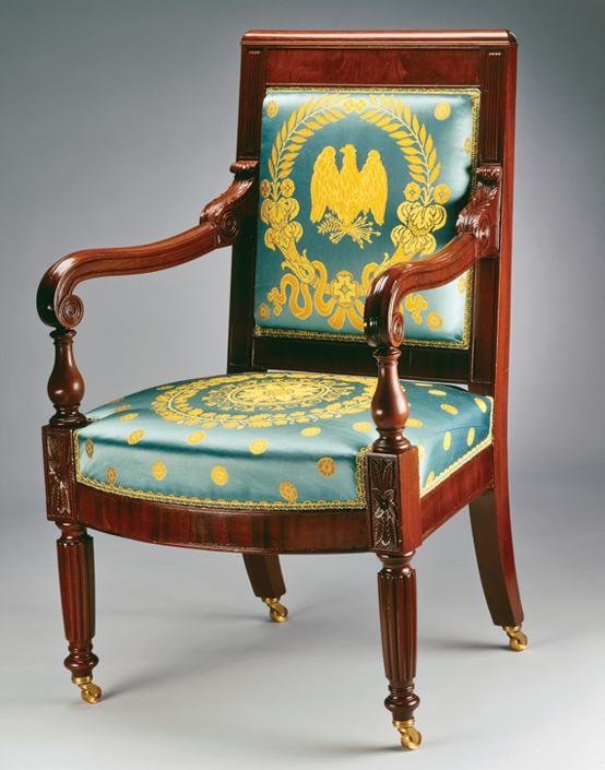 Armchair, William King Jr. (1771–1854), Georgetown, D.C., 1818. Mahogany. Gift of Mr. and Mrs. John Ford Sollers Sr., 1986.