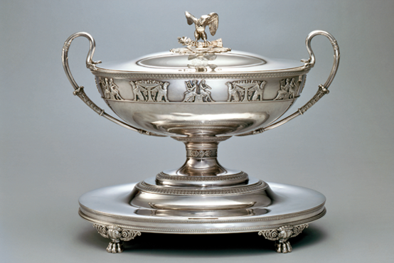 Soup tureen, Jacques-Henri Fauconnier (1779–1839), Paris, ca. 1809–17. Silver. U.S. Government purchase, 1817.