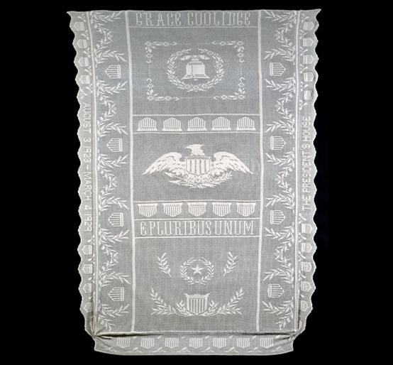 Coverlet, Grace Goodhue Coolidge (1879–1957), Washington, D.C., 1925–1927. Crocheted shoe thread. Gift of Grace Coolidge, 1927.
