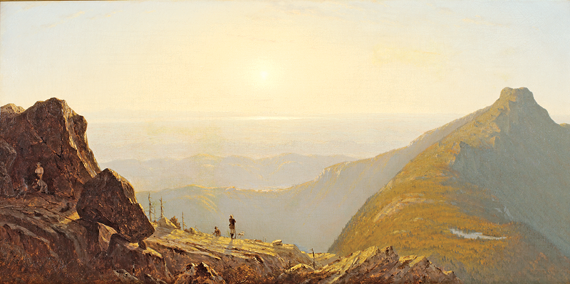 Fig. 3: Sanford Robinson Gifford (1823–1880) Mount Mansfield, 1859 Oil on canvas, 30-1/2 x 60-1/4 inches From the collection of a Dartmouth parent