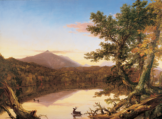 Fig 1: Thomas Cole (1801–1848) Schroon Lake, 1835–1838 Oil on canvas, 34-1/8 x 46-1/8 inches From the collection of a Dartmouth parent