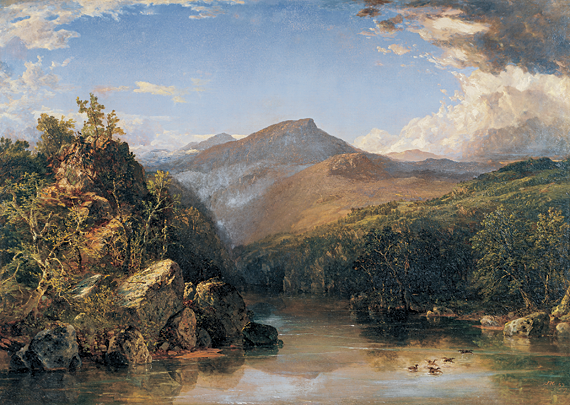 Fig. 2: John Frederick Kensett (1816–1872) Landscape (Reminiscence of the White Mountains), 1852 Oil on canvas, 35-1/2 x 50 inches  From the collection of a Dartmouth parent