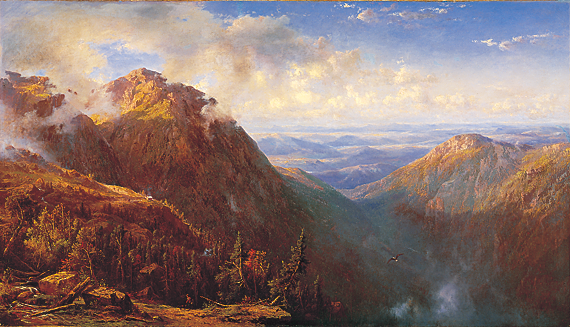 Fig. 5: Regis Franccedil;ois Gignoux (1814–1882) New Hampshire (White Mountain Landscape), ca. 1864 Oil on canvas, 48 x 83-3/4 inches Hood Museum of Art, Dartmouth College: Purchase made possible by a gift of Olivia H.  and John O. Parker, Class of 1958, and by the Julia L. Whittier Fund (P.961.1)