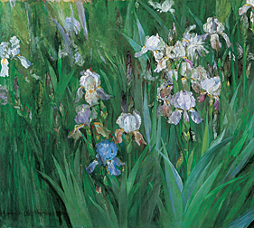 Fig. 7: Maria Oakey Dewing (1845–1927) Iris at Dawn, 1899 Oil on canvas, 25-1/4 x 31-1/4 inches Hood Museum of Art, Dartmouth College: Purchased through the Miriam and Sidney Stoneman Acquisition Fund and the Mrs. Harvey P. Hood W'18 Fund (P.999.11)