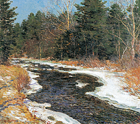 Fig. 8: Willard Leroy Metcalf (1858–1925) The First Thaw, 1913 Oil on canvas, 26-1/2 x 29 inches Hood Museum of Art, Dartmouth College: Purchased through the Mrs. Harvey P. Hood W'18 Fund; the Miriam and Sidney Stoneman Acquisition Fund; and the Julia L. Whittier Fund; through gifts from the Lathrop Fellows and gifts by exchange (P.992.14)