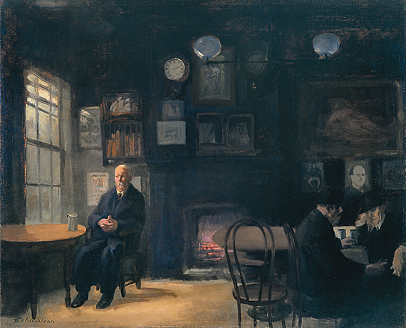 Fig. 12: John Sloan (1871–1951) McSorley's Back Room, 1912 Oil on canvas, 26 x 32 inches Hood Museum of Art, Dartmouth College: Purchased through the Julia L. Whittier Fund (P.946.24)