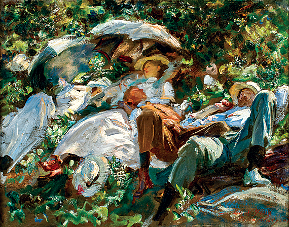 Fig. 9: John Singer Sargent (1856–1925) Siesta (Group with Parasols), 1905 Oil on canvas, 22-3/8 x 28-9/16 inches From the collection of a Dartmouth parent