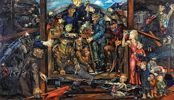 Philip Evergood (1901–1973) Mine Disaster, 1933 Oil on canvas, 40 x 70 inches Edward H. Coates Fund (2010.1)
