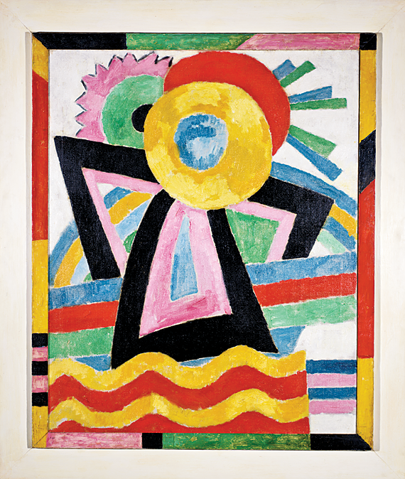 Marsden Hartley (1877–1943) Flower Abstraction, 1914 Oil on canvas, with painted wood frame, 42-3/8 x 34-7/8 inches Gift of Meyer P. and Vivian O. Potamkin (2003.1.4)