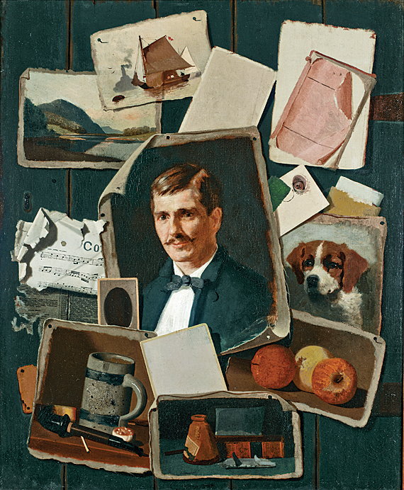 John Frederick Peto (1854–1907) Patch Self-Portrait with Small Pictures, ca. 1900 Oil on canvas, 29 x 24 inches The Donald and Jean I. Stralem Collection Bequest of Jean I. Stralem (2006.10.8)