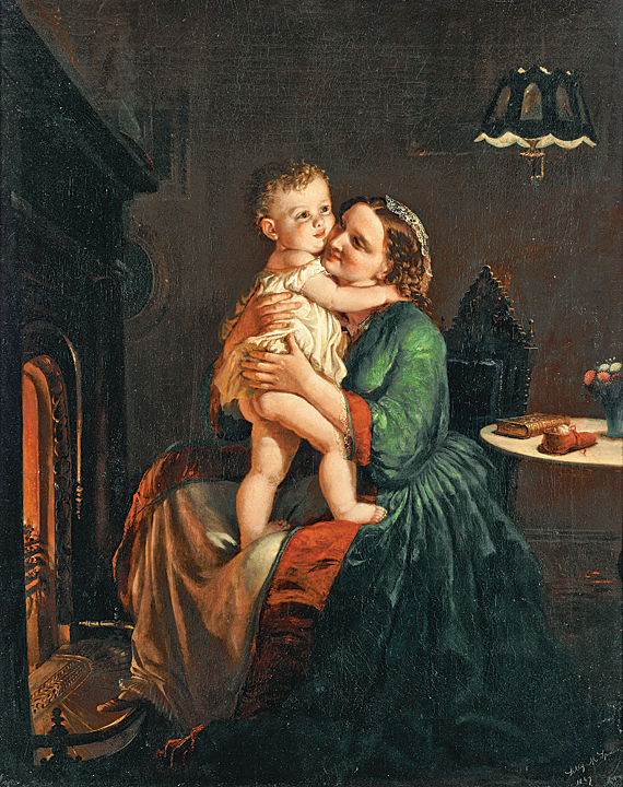 Lilly Martin Spencer (1822–1902) Mother and Child by the Hearth, 1867 Oil on canvas, 34-1/2 x 27-1/4 inches Edna Andrade, Wyckoff, and Harriet B. Kravitz Funds (2010.2)