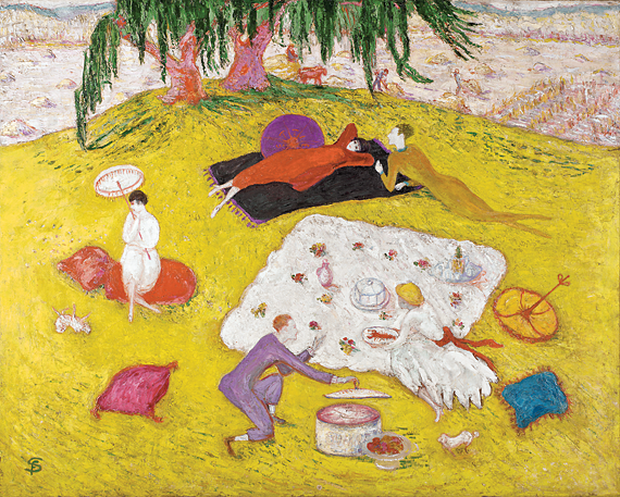 Florine Stettheimer (1871–1944) Picnic at Bedford Hills, 1918 Oil on canvas, 40-5/16 x 50-1/4 inches Gift of Ettie Stettheimer (1950.21)