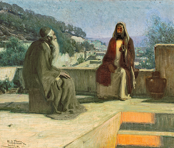 Henry Ossawa Tanner (1859–1937) Nicodemus, 1899 Oil on canvas, 33-11/16 x 39-1/2 inches Joseph E. Temple Fund (1900.1)