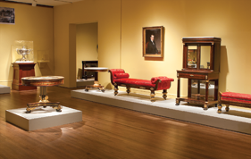 Fig. 2: Gallery view of the current exhibition, Duncan Phyfe: Master Cabinetmaker in New York. Courtesy, The Metropolitan Museum of Art, New York.