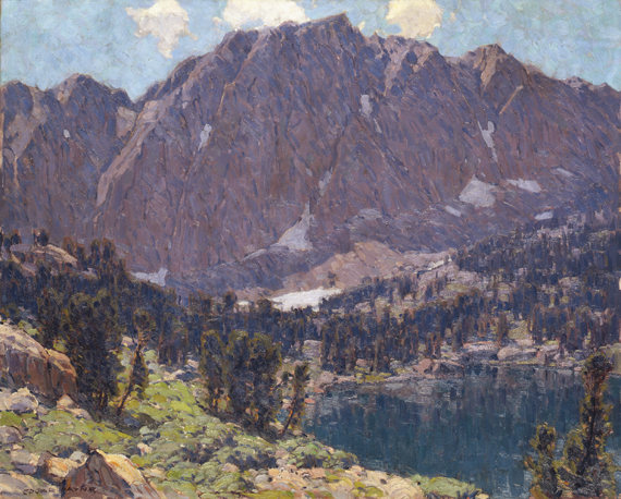 Fig. 7: Edgar Alwin Payne (1883–1947) Fifth Lake [High Sierra], ca. 1928 Oil on canvas, 40-3/8 x 50-1⁄4 inches Smithsonian American Art Museum, Washington, D.C. Bequest of Henry Ward Ranger through the National Academy of Design, 1957.10.6. Image courtesy of the Smithsonian American Art Museum, Washington, D.C./Art Resource, N.Y.