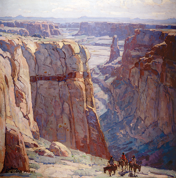 Fig. 11: Edgar Alwin Payne (1883–1947) Blue Canyon, after 1929 Oil on canvas, 34 x 34 inches Private collection