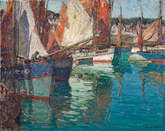 Fig. 14: Edgar Alwin Payne (1883–1947) Breton Tuna Boats, Concarneau, France, ca. 1924 Oil on canvas, 40 x 50 inches Private collection