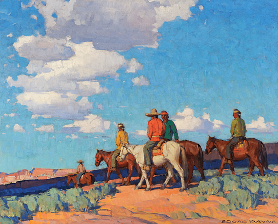 Fig. 10: Edgar Alwin Payne (1883–1947) Navajo Riders, after 1929 Oil on canvas, 32 x 40 inches Collection of Charles D. Miller